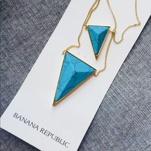 Layer pyramid necklace Banana Republic NWT